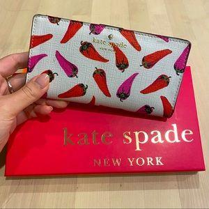 Kate Spade Hot Pepper Canvas Coated Bi-Fold Wallet